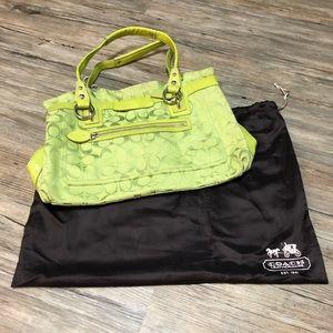 Lime Green Coach Handbag 🥝